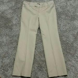 Ann Taylor Signature Tan Dress Pants